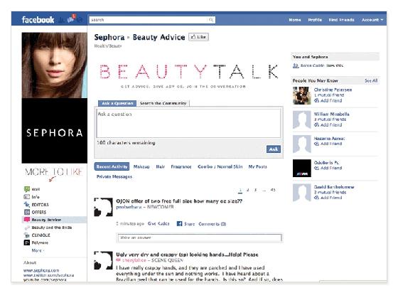 SephoraFacebook
